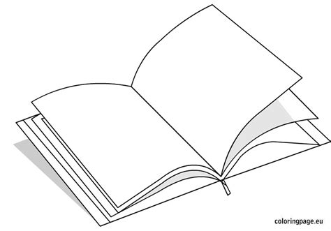 Open Book Coloring Page School Pinterest Open Book Book Colouring Page