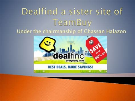 sister website dealfind a sister site of team buy