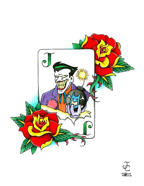 joker playing card tattoo designs 17 best images about batman designs on