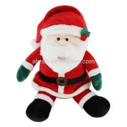 soft music promotional plush santa christmas stuffed and