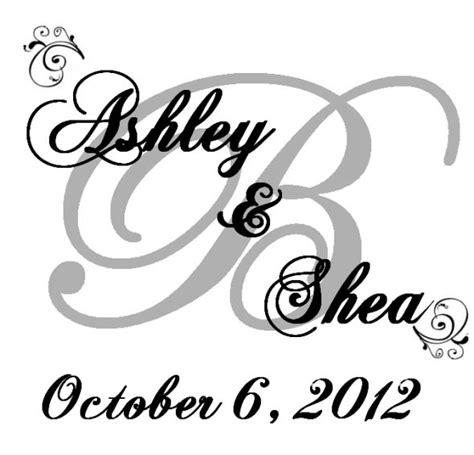 Wedding Font Gimp by Diy Monogram Weddingbee Photo Gallery