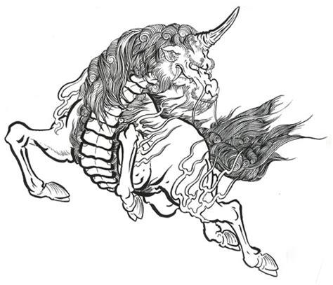 tattoo unicorn japanese kirin prints stewartrobson s blog