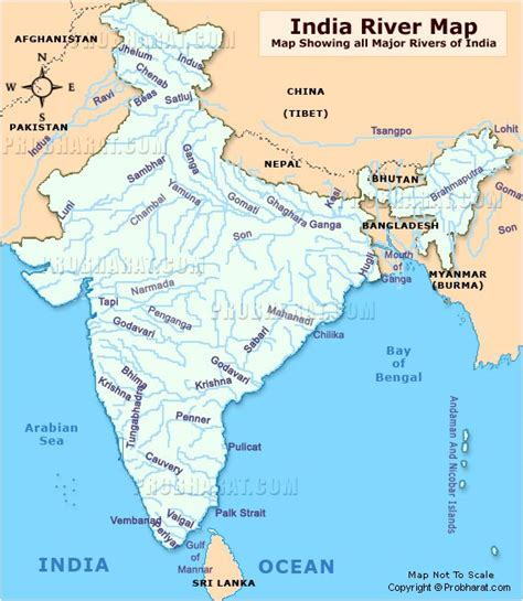 Rivers Of India Map Outline by India River Map Rivers Of India Map Map Showing All Major Indian Rivers