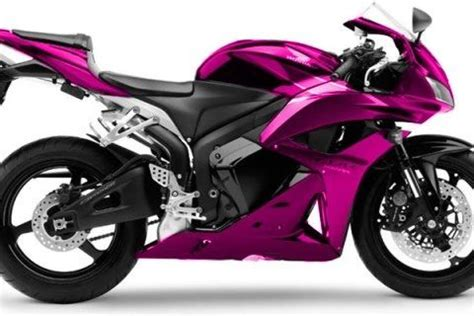 pink motorcycle honda cbr600rr. i don't think i would ever