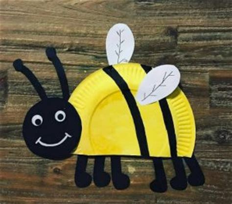 Paper Plate Bumble Bee Craft - paper plate animals craft idea for crafts and
