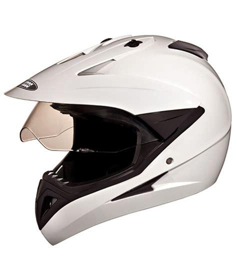 studds motocross helmet studds full face helmet motocross plain white large