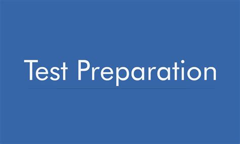 Preparation For Test preparation driverlayer search engine