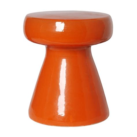 Stool Orange by Emissary 12150bo Stool Table Bright Orange