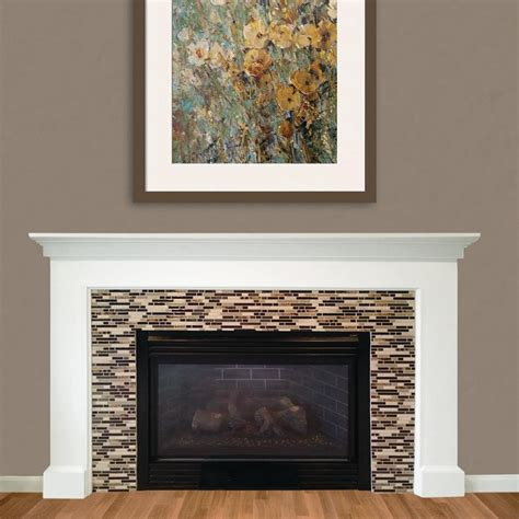 Peel And Stick Tile Around Fireplace by Smart Tiles Bellagio Keystone 10 06 In W X 10 00 In H Peel And Stick Decorative Mosaic Wall