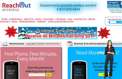 free phone program information depot another government supported free cell phone program reachout wireless