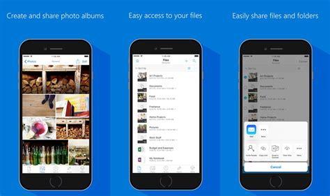 onedrive ios app updated with support for offline folders