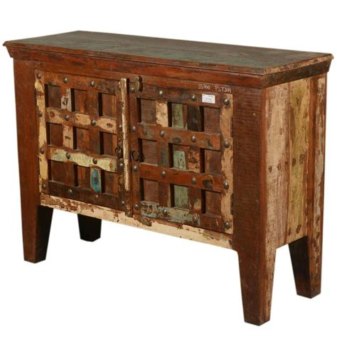 Wood Sideboard by Antique Reclaimed Wood Sideboard Buffet Small Storage Cabinet