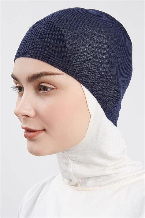 Ciput Basic sell ciput bando knit plain navy ciput hijabenka