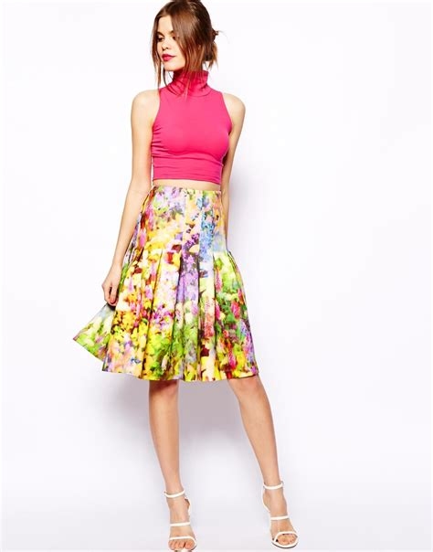 floral printed midi skirt collection 11