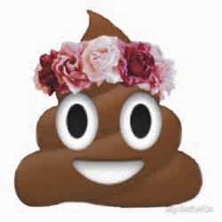 Peace Sign Wall Stickers quot flower crown poop emoji hipster tumblr quot stickers by