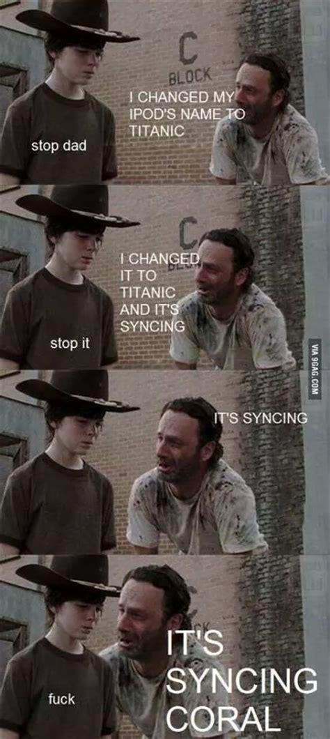 The Walking Dead Carl Meme - 35 of the best walking dead carl meme coral dad jokes