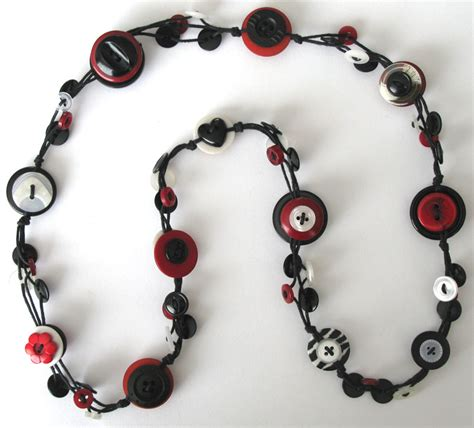 Handmade Button Jewellery - handmade button necklace felt