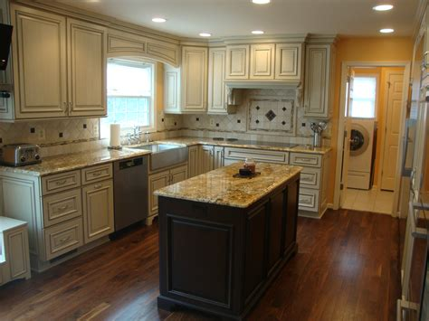 average size kitchen kitchen small sized kitchen island on wooden flooring at