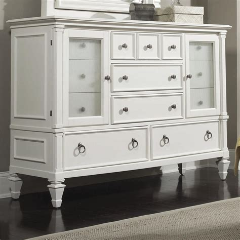 glass dresser magnussen home ashby 71925 dresser with reeded glass doors