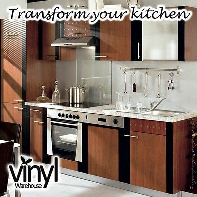 Kitchen Door Cabinet Covering Mid Walnut Sticky Vinyl Lots Sticky Kitchen Cabinet Doors
