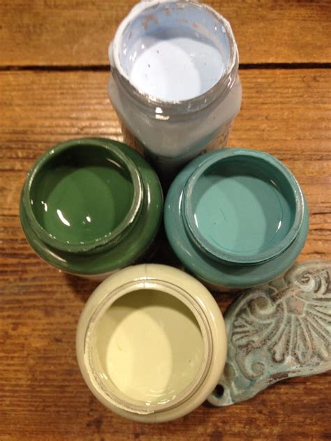 autentico chalk paint on metal colours to create a verdigris paint effect all from