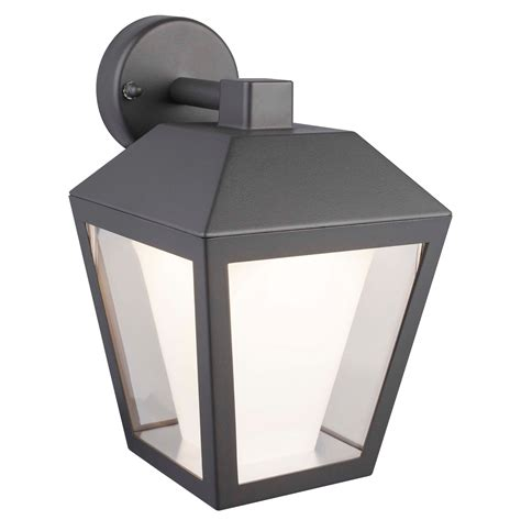 Blooma Dalton Dark Grey Mains Powered External Wall Light B Q Outdoor Lights