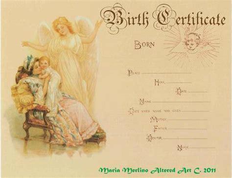 crafts birth certificates