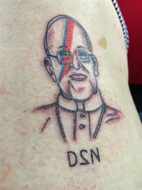 people getting tattoos so apparently been getting pope francis