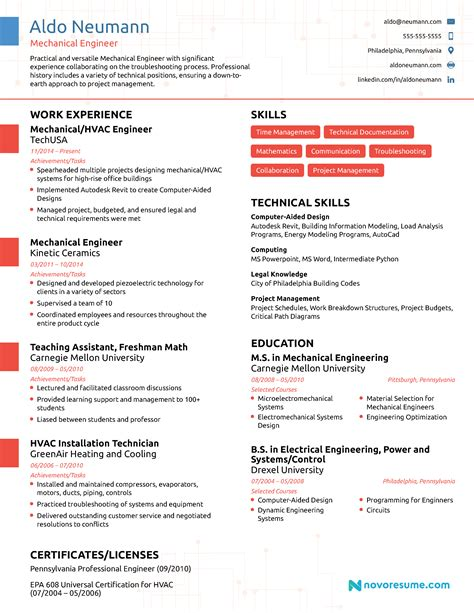12 mechanical engineering resume template new hope stream wood