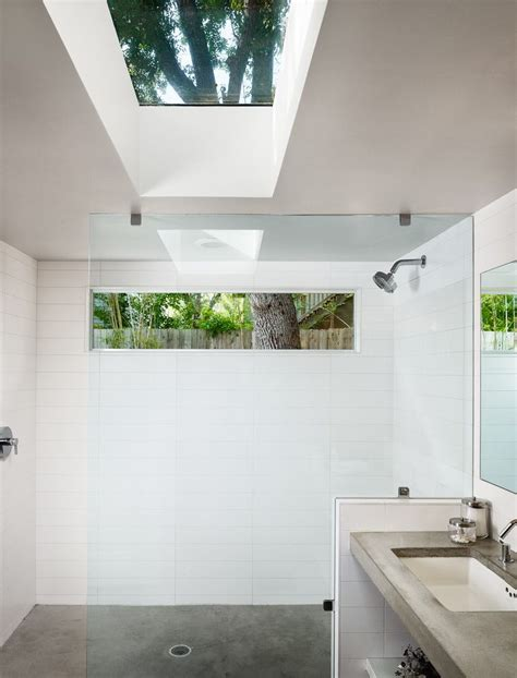 Modern Bathroom Windows High Windows Bathroom Contemporary With White Tile Wall Rectangular Multiuse Tiles
