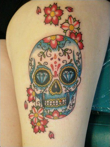 girly sugar skull tattoos sugar skull meaning nsfw tattoomagz