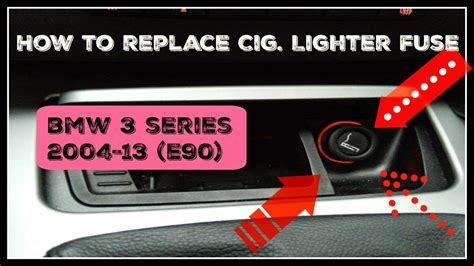 replace cig lighter fuse  bmw  series