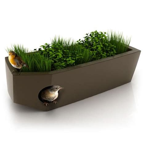 design planters cool modern planters that doubles as pet and bird houses digsdigs