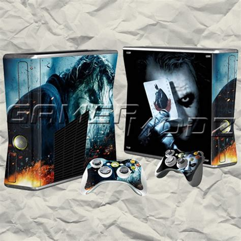 the joker design sticker skin for xbox 360 slim 23 best images about x box on pinterest xbox 360 games