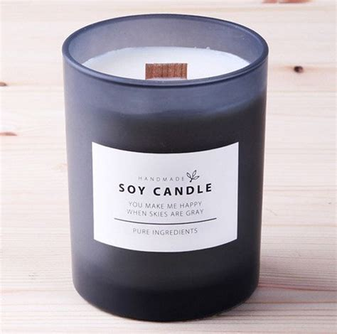 10 X Candle Labels Simple White Soy Candle By Twomysterybox Re Ipes Pinterest Label Candle Label Templates