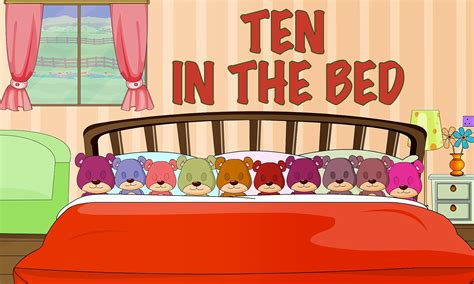 10 in the bed ten in the bed nursery rhymes with lyrics english