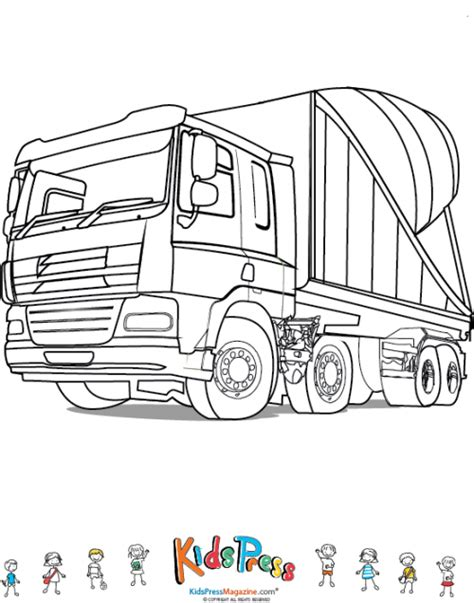 coloring pages cement truck free coloring pages of cement mixer