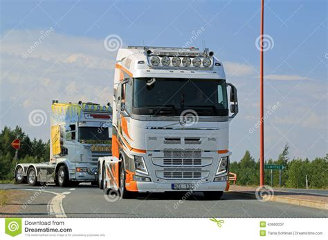 volvo trucks sweden show truck volvo fh xxl in lempaala finland editorial