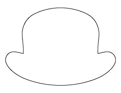 hat outline template printable hat template printable template 2017