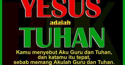 yesus adalah tuhan gambar renungan harian kristen
