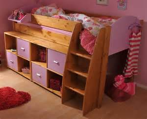 stompa rondo 4 mid sleeper cabin bed with storage cupboards