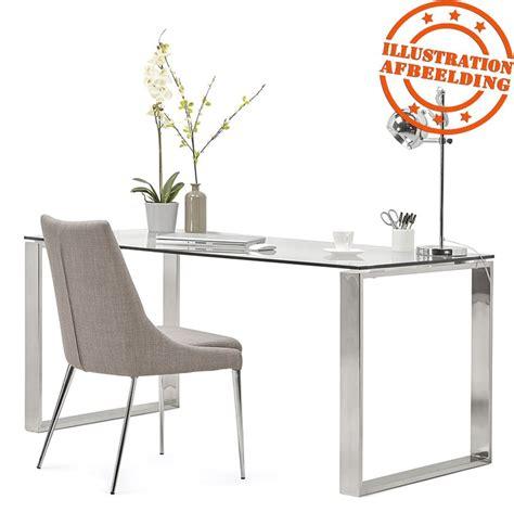 glazen buro groot recht bureau nevada glas eettafel
