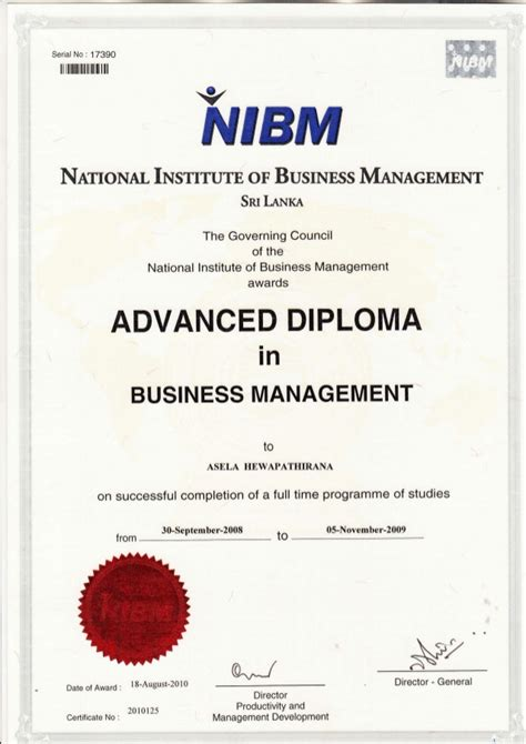 Mba In Business Management In Sri Lanka by Nibm Advance Diploma Cert