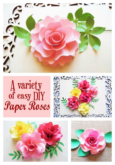 How To Make Easy Paper Roses For - in a bed of paper roses how to make easy diy paper roses