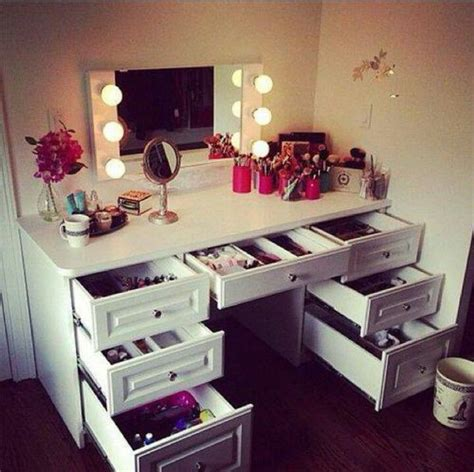 Makeup Vanity Table With Lights Lights For Dressing Table Makeup Storage Pinterest Vanities Dressing Tables And Storage
