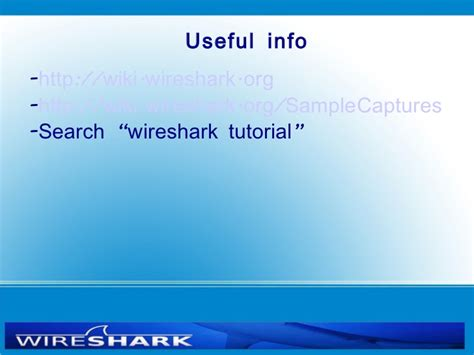 Tutorial Wireshark Ppt | wireshark presentation