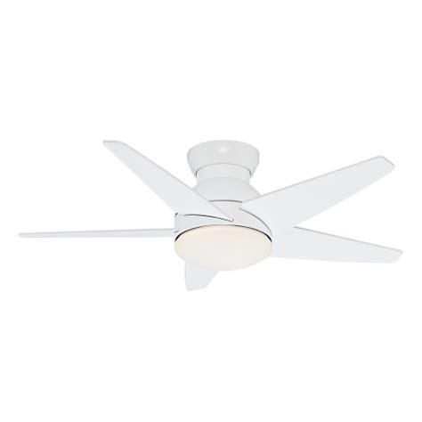wall hugger ceiling fan casablanca 59018 isotope 44 inch ceiling fan with five
