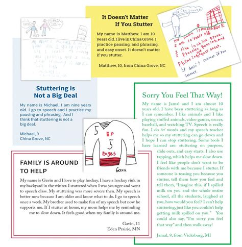 thank you letter to 5th grade drawings and letters from stuttering foundation a