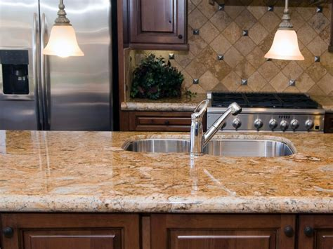 best countertops for kitchens neutral granite countertops hgtv