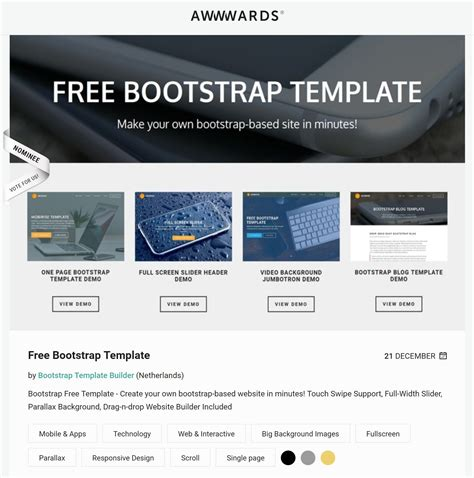 best free html5 background bootstrap templates of 2017